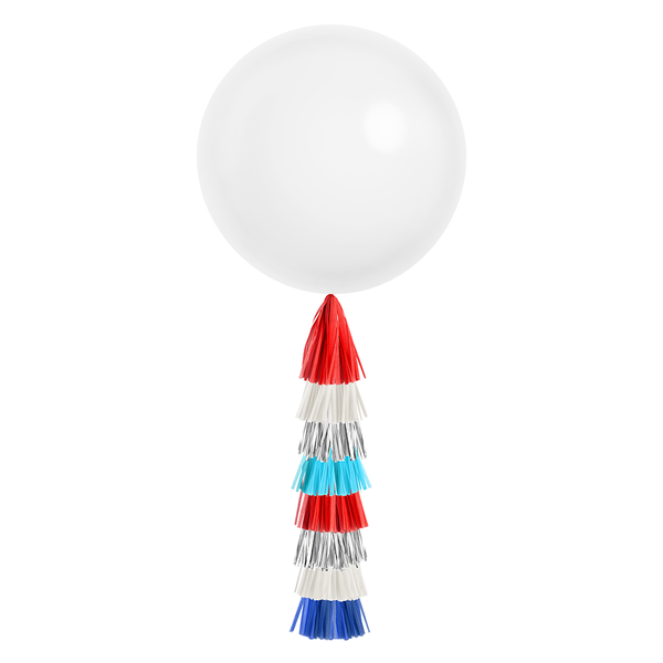 Giant Balloon with DIY Tassels - Patriotic (Solid)