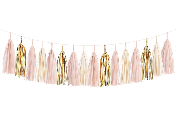 Tassel Garland DIY Kit - Blush & Gold