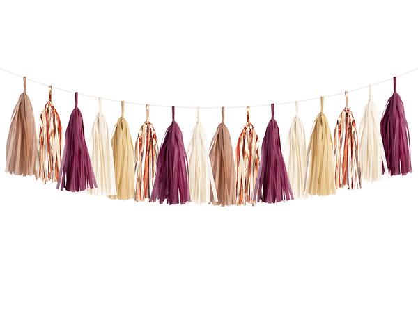 Tassel Garland DIY Kit - Burgundy & Rose Gold