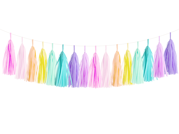 Tassel Garland DIY Kit - Pastel Rainbow