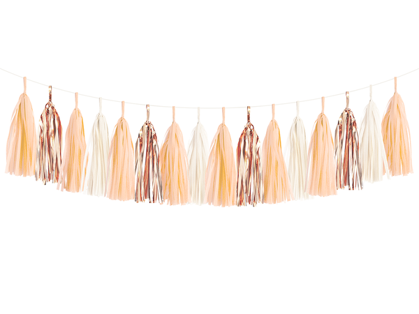 Tassel Garland DIY Kit - Peach & Rose Gold
