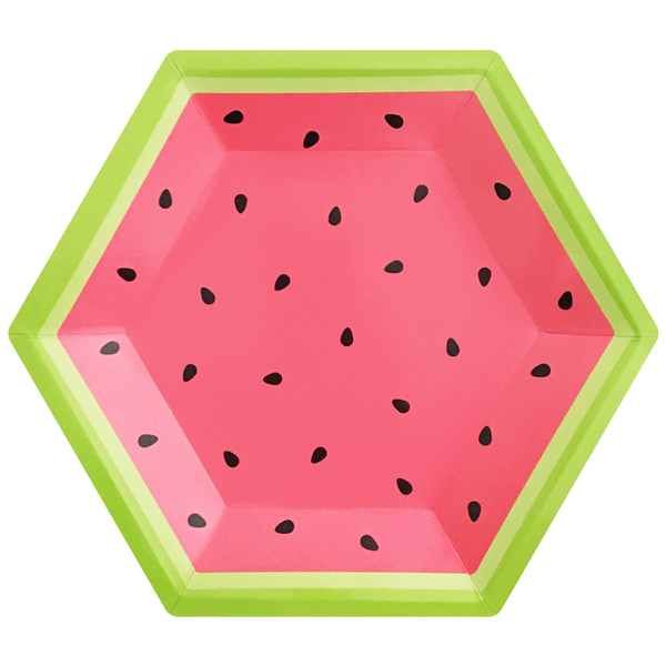 Paper Plates - Watermelon - Large