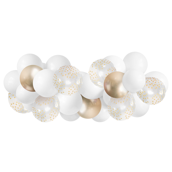 Balloon Garland - White & Gold - 5ft