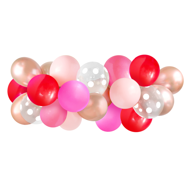 Balloon Garland - Red & Pink - 5ft
