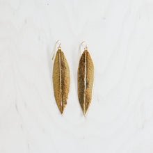 Gold-Dipped Maile Leaf Earrings