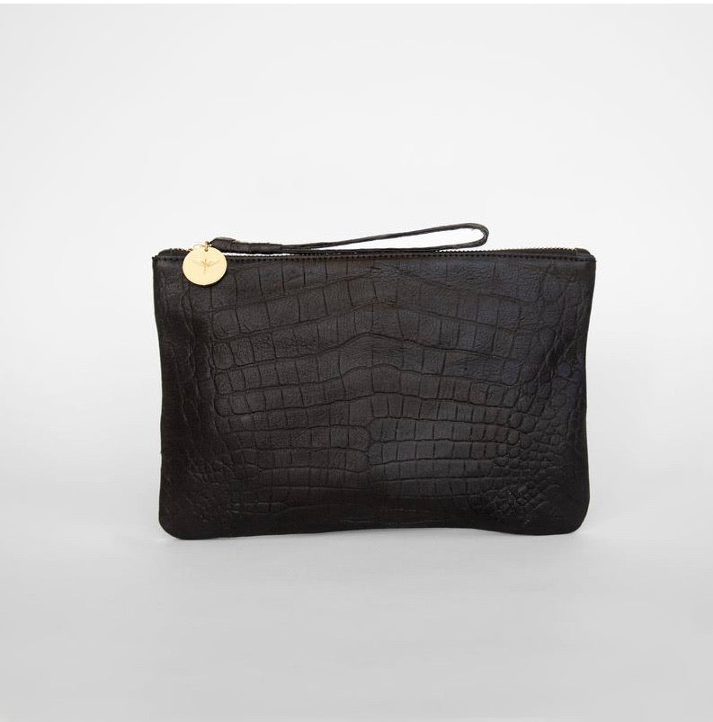 Mini Camino - Croc Embossed Black