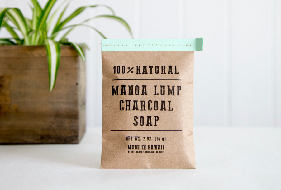 Manoa Lump Charcoal Peppermint Soap
