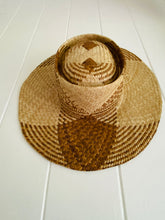 Two Tone Long Brim Lauhala Hat #020