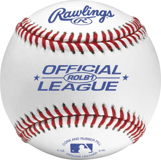 Rawlings Raised Seam Baseballs, Official Junior League Competition Grade Baseballs, Cover, Box of 12, ROLB1