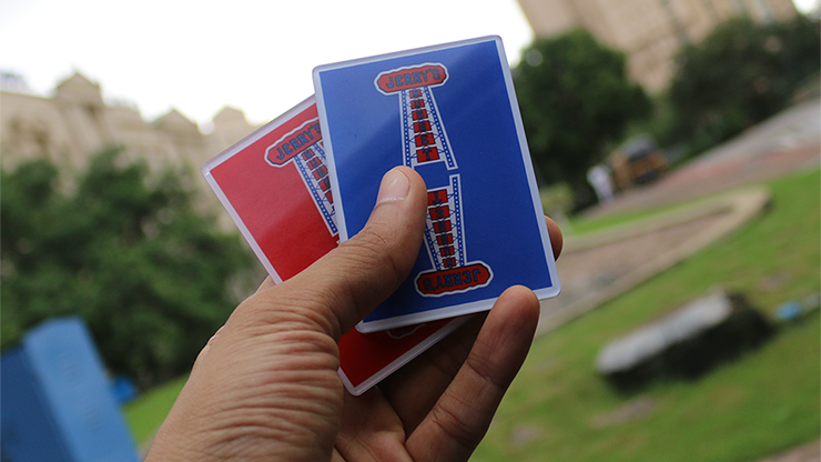 Jerry Nugget Cardistry Trainers 3 PACK (Red & Blue Double Backer) by Magic Encarta - Trick