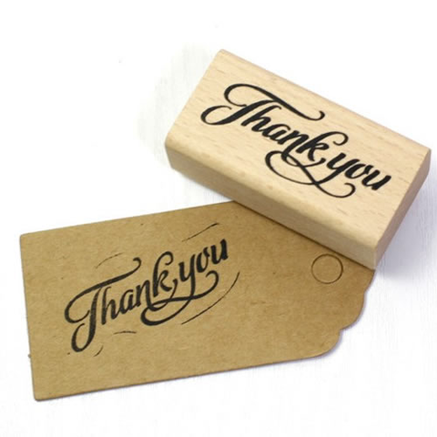 "Sellito ""Thank you"" Rectángulo (6 x 3 cm)"