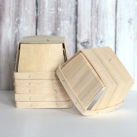 Berry Baskets de Madera / 25 Pzas