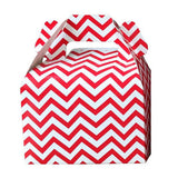 Mini cajitas PICNIC / LUNCH Rojo chevron (12 Pzas)