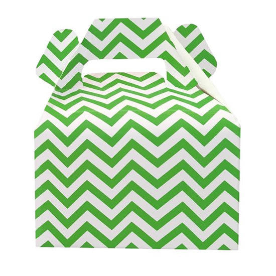 Mini cajitas PICNIC / LUNCH Verde Chevron (12 Pzas)