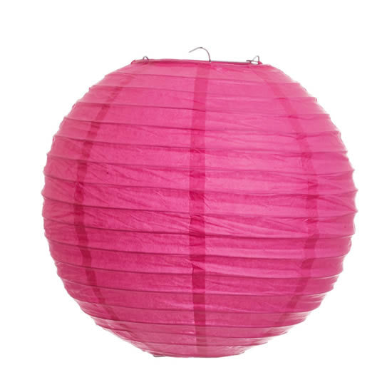 Pantalla China 40 cm color fucsia