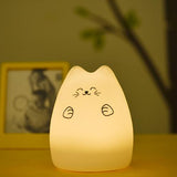 Chat Lampe de chevet, dynamique Multicolore Silicone & LED