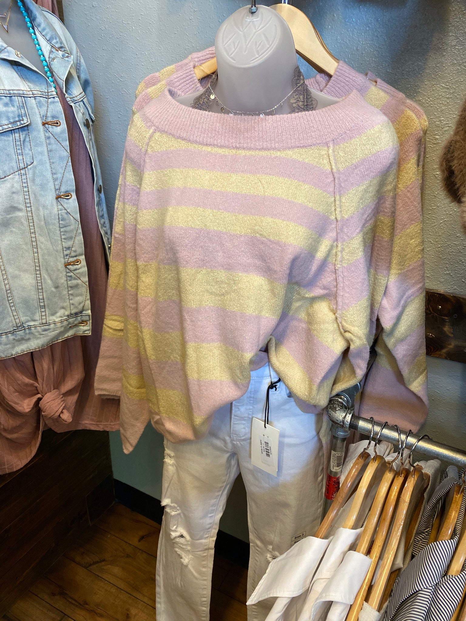Pink/Yellow Sweater