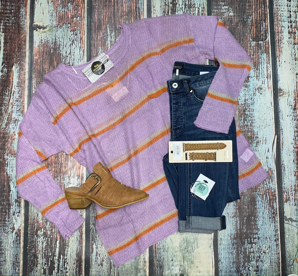 Lilac Striped Sweater