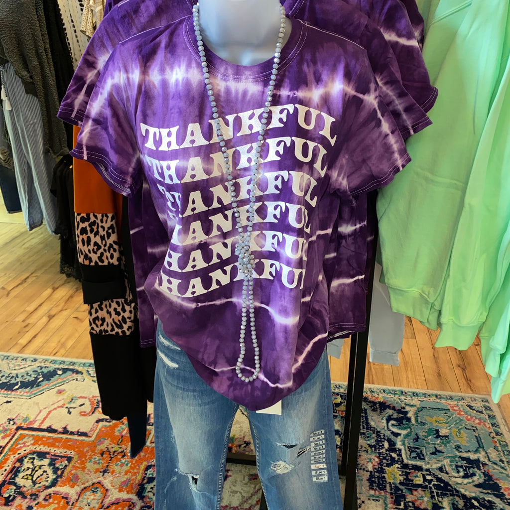 Purple Thankful Tee