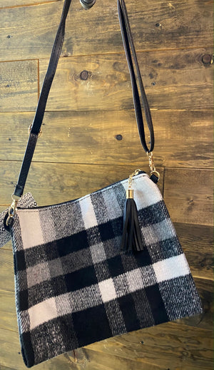 Black Plaid Purse