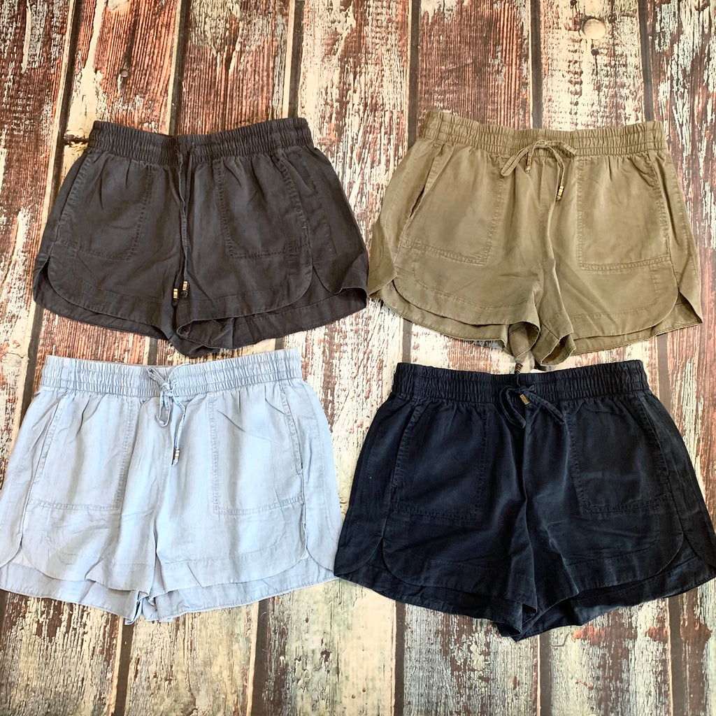 Drawstring Mini Shorts
