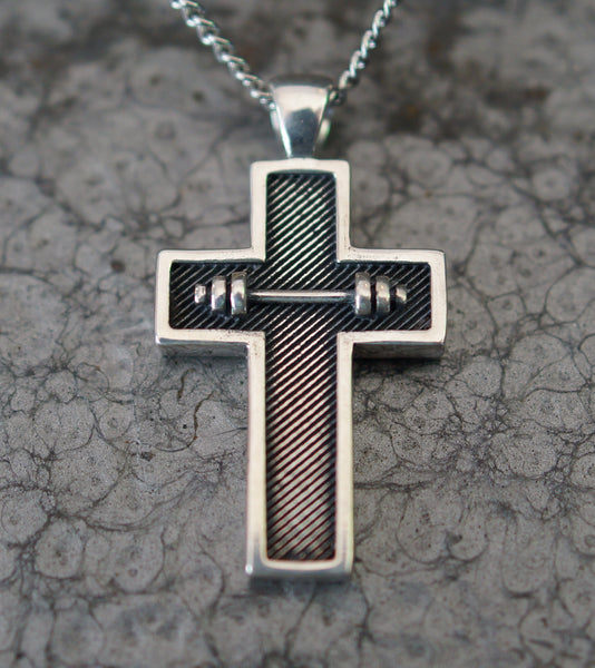 Athlete Cross Pendant - Large