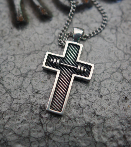 Athlete Cross Pendant - Small