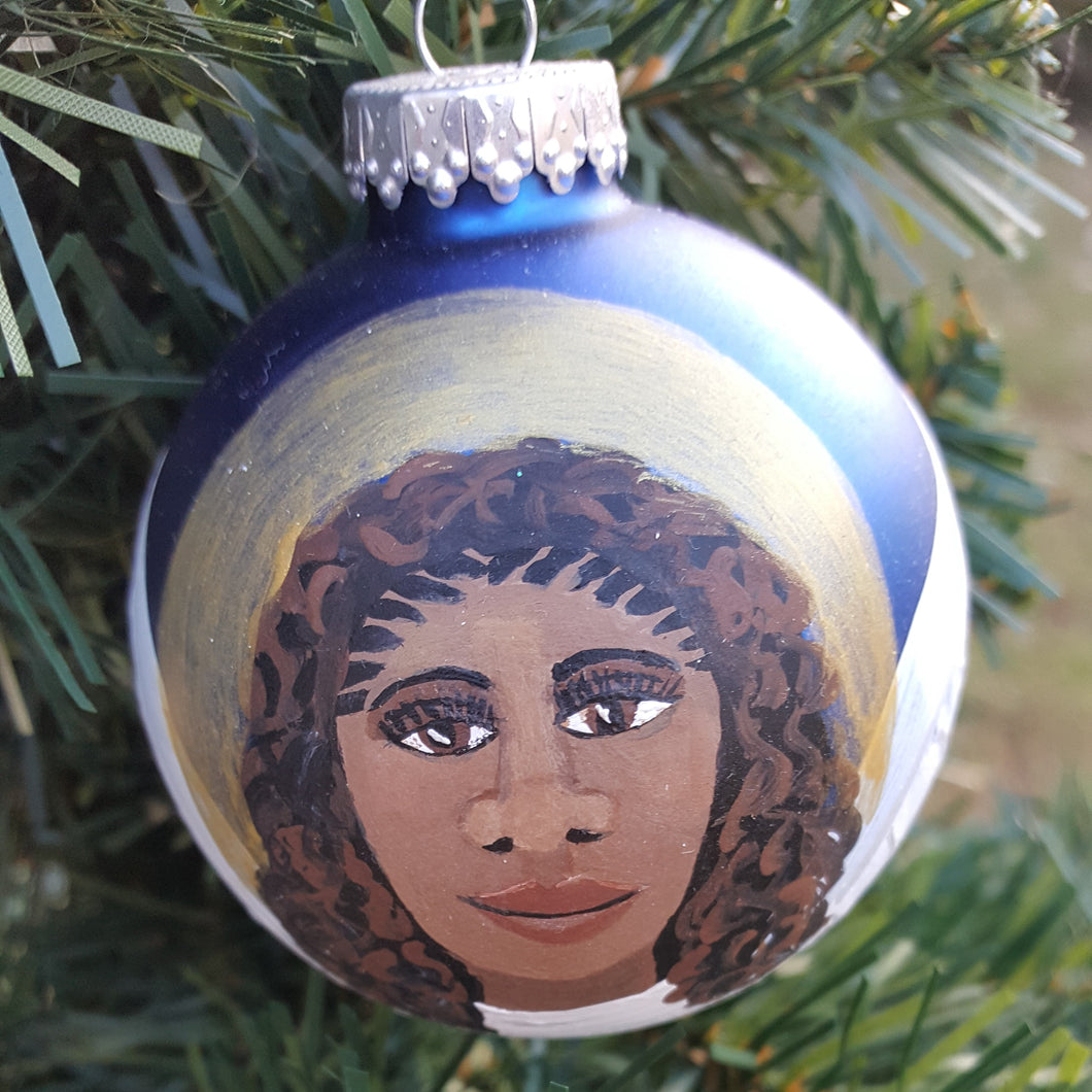 Hand painted Angel Christmas Balls