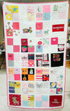 Quilt made from children's clothing