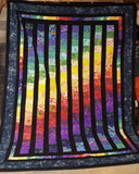A graduated color quilt