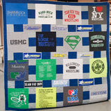 A T-shirt Quilt with extra visual interest