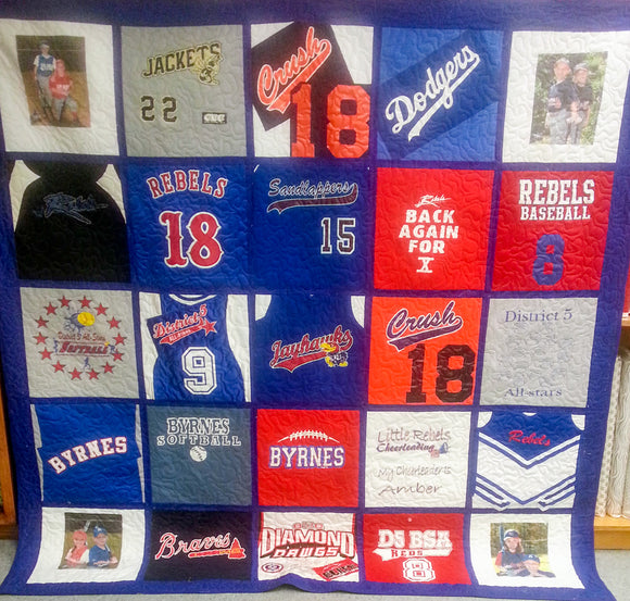 T-Shirt Quilt - Available in 6 Sizes Starting at $255 (with 50% deposit)