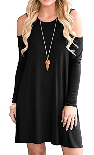 Bayside Cold Shoulder Swing Tunic with Pockets + ESTIMATED DELIVERY 1 WEEK - Folio Trends