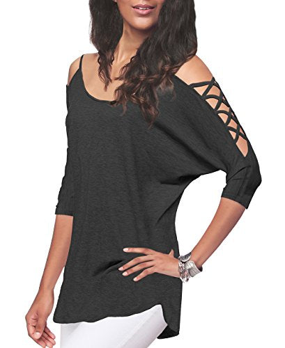 Naples Cut Out Cold Shoulder Top + Delivery in 1 week! - Folio Trends