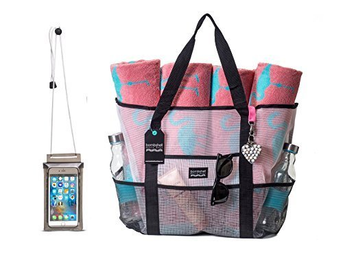 Extra large beach Bag with Keychain, and Universal pvc Phone Case + 1 WEEK FREE SHIPPING! - Folio Trends