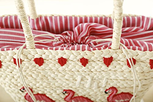 Flamingo Straw Beach Bags + 7 DAY SHIPPING! - Folio Trends