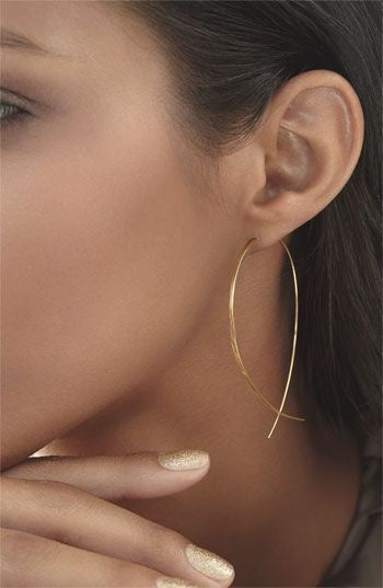 Delicate Fish Hoop Earings in Black, Gold and Silver Plate - Folio Trends