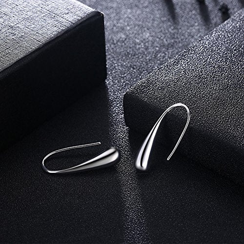 Classic Silver Plated Teardrop Earings + 7 DAY FREE SHIPPING! - Folio Trends