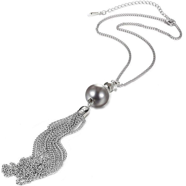 Pearl Tassel Pendant Necklace + FREE 1 WEEK DELIVERY! - Folio Trends