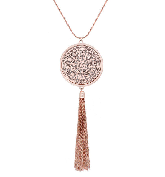 Tassel Fringe Statement Pendant Necklace + 1 WEEK FREE DELIVERY! - Folio Trends