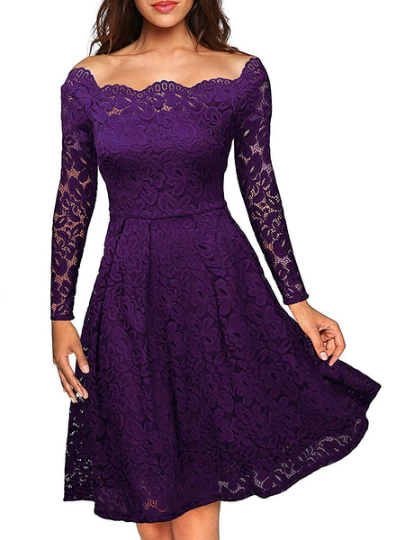 Floral Lace Swing Dress + FREE 1 WEEK SHIPPING! - Folio Trends