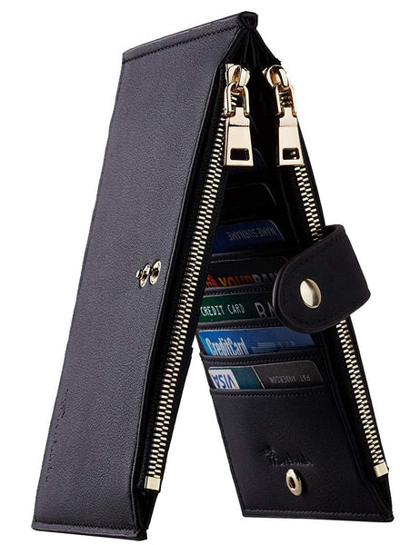 Travelamb Bifold Cardcase with Zipper + 1 WEEK FREE SHIPPING! - Folio Trends