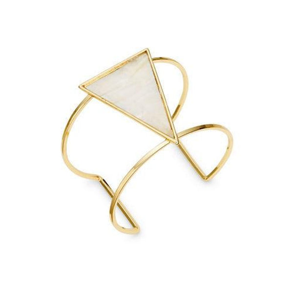 Opal Shell Triangle Cuff Bracelet - Folio Trends