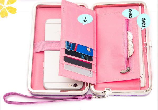 Cell Phone Wristlet Purse - Folio Trends
