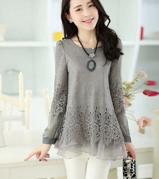 Vintage Layered Lace Tunic