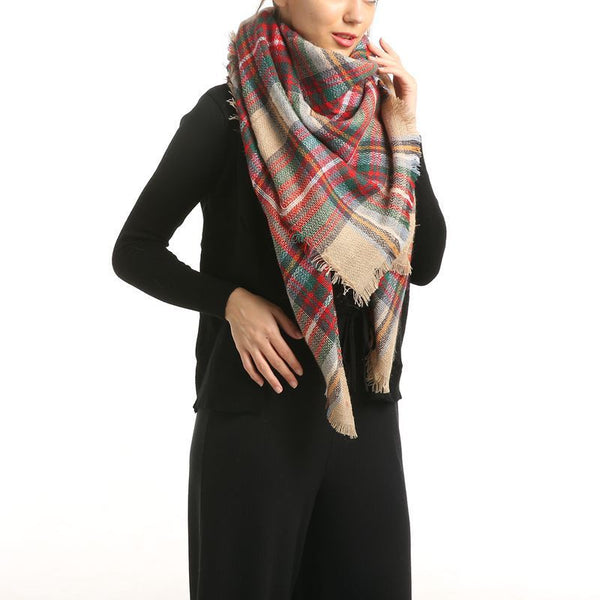 Long Shawl  Lattice Scarf - Folio Trends