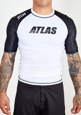 ATLAS - SPLITTER RASH GUARD - WHITE/BLK