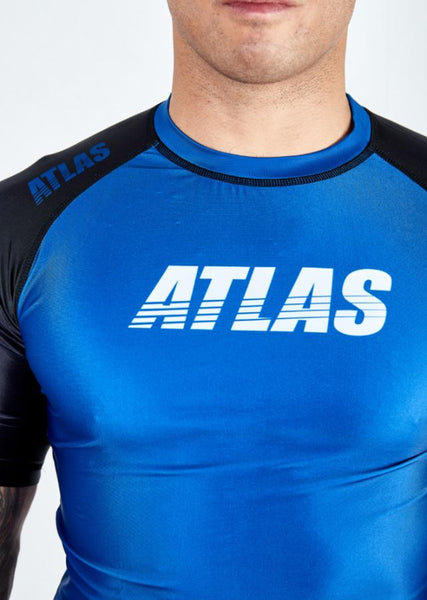ATLAS - SPLITTER RASH GUARD - BLUE/BLK