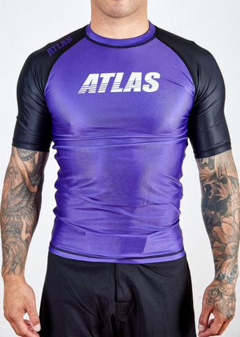 ATLAS - SPLITTER RASH GUARD - PURPLE/BLK