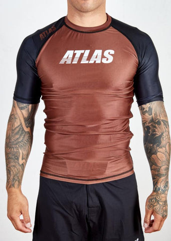 ATLAS - SPLITTER RASH GUARD - BROWN/BLK